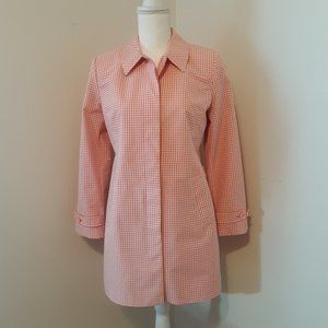 Ann Taylor LOFT Pink Gingham Jacket Size MP